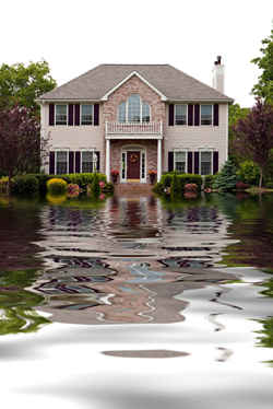 Flooded House In Memphis